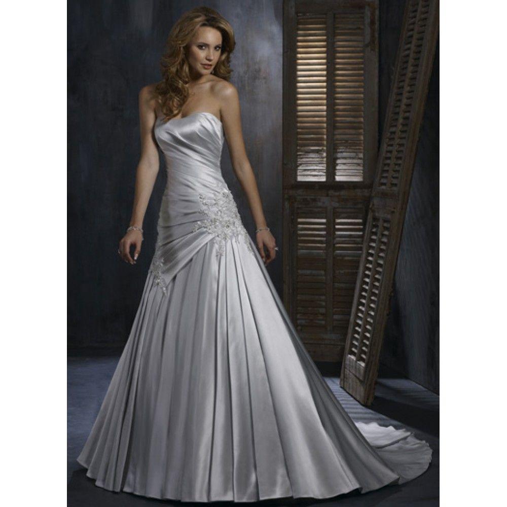 silver-wedding-dresses-plus-size- | Silver Bridesmaid Dress | Pinterest