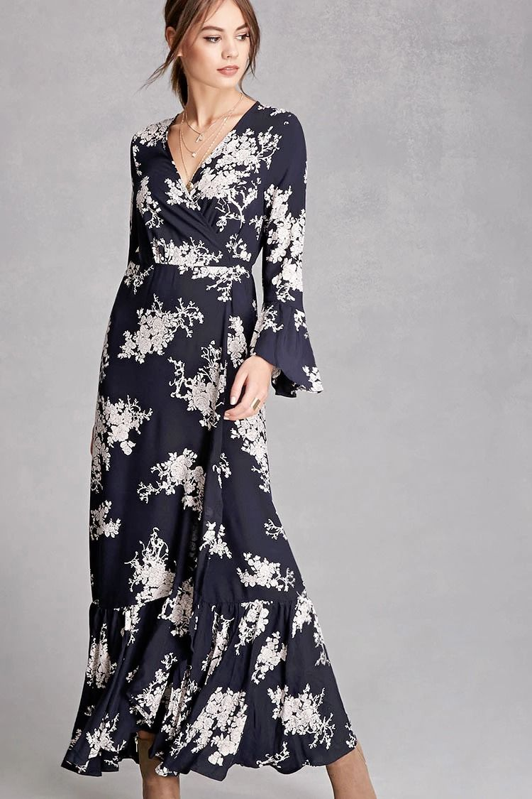 A woven maxi dress by selfie leslie featuring a selftie surplice