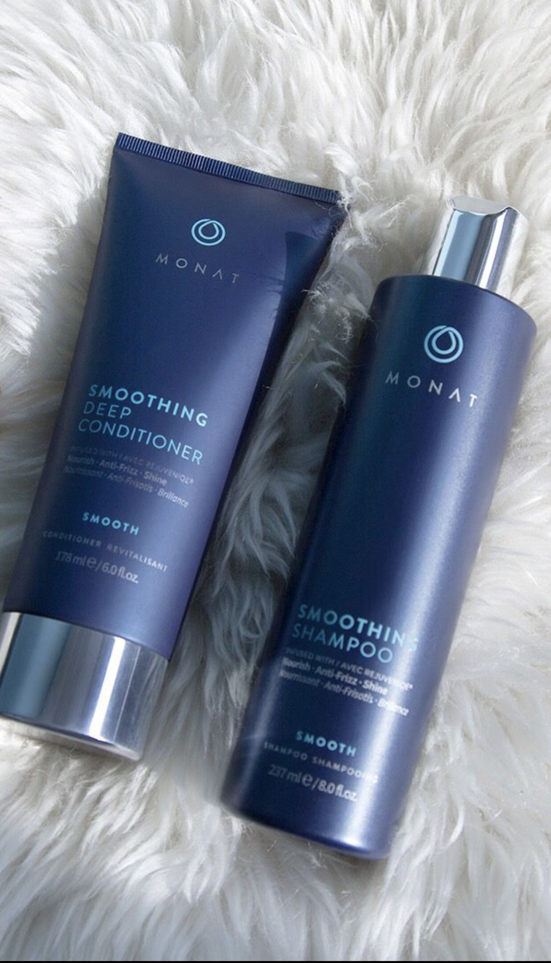 Monat Smoothing Shampoo & Conditioner fight Frizz new February 2018. Join #monat as a #business #monatbusiness #monatproducts