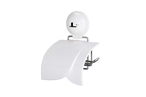 Feca Feb2009 No Drill Toilet Paper Holder With Cover And Powerful Suction Cup White Be Sure To Check Out This Awesome With Images Toilet Paper Holder Toilet Paper Bath