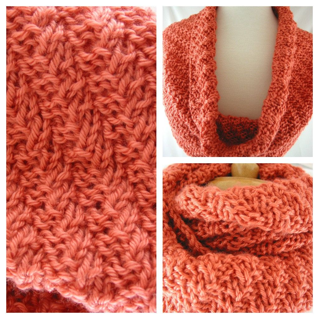 Burnt orange hand knit infinity scarf 5000 via etsy by nancy womens hand knit burnt orange infinity scarf shrug cowl wrap ladies hand knit infinity scarf is in a twisted ribbed pattern and can be worn as cowl doubled bankloansurffo Choice Image