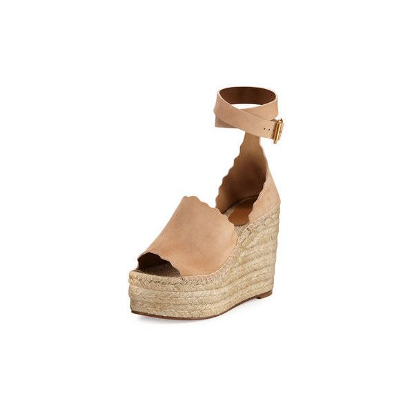 b62ecd867dd3 Chloe Suede d Orsay Espadrille Sandal ( 660) ❤ liked on Polyvore featuring  shoes