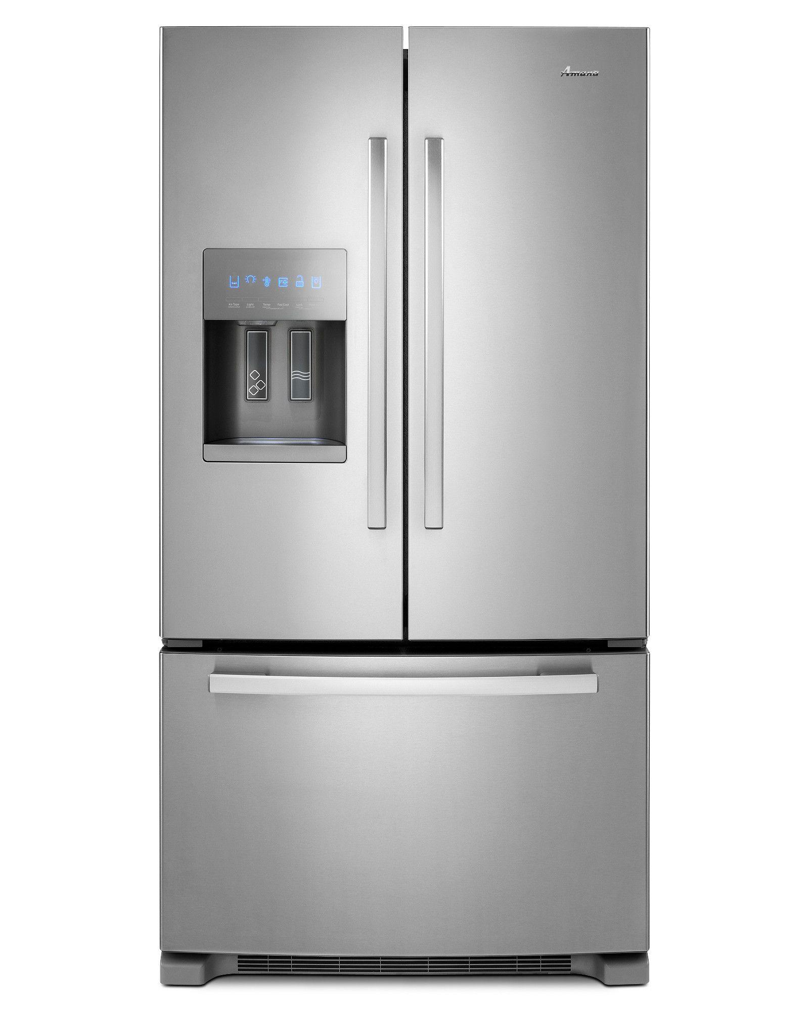 Whirlpool white ice counter depth french door - French Door Bottom Freezer Refrigerator W Fast