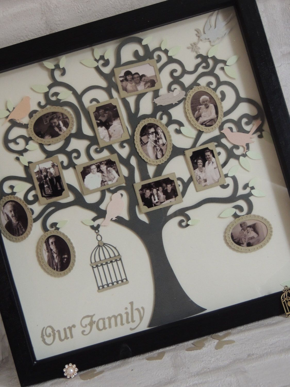 Handmade-personalised-wooden-family-tree-box-frame-shadow-box-gift ...