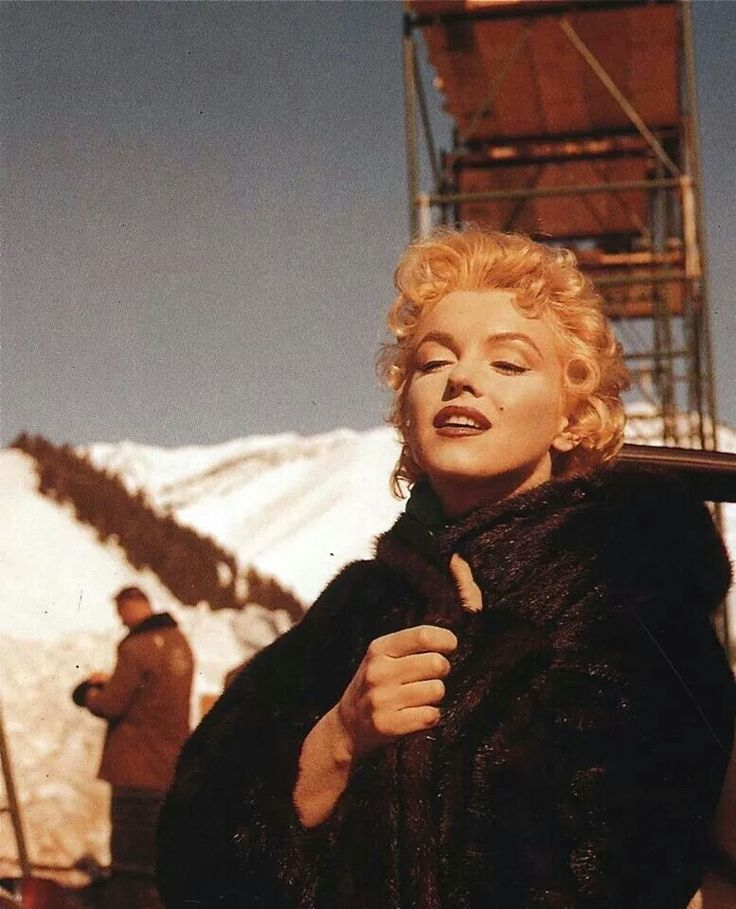 """Marilyn Monroe on the set of """"Bus Stop"""". Photo by Milton Greene, 1956."""