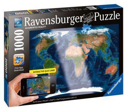 Amazon satellite world map augmented reality jigsaw puzzle amazon satellite world map augmented reality jigsaw puzzle 1000 piece gumiabroncs Images