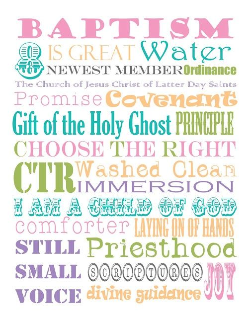 LDS Baptism Poems for Girls | visit thethreesweetpeas com | Baptism ...