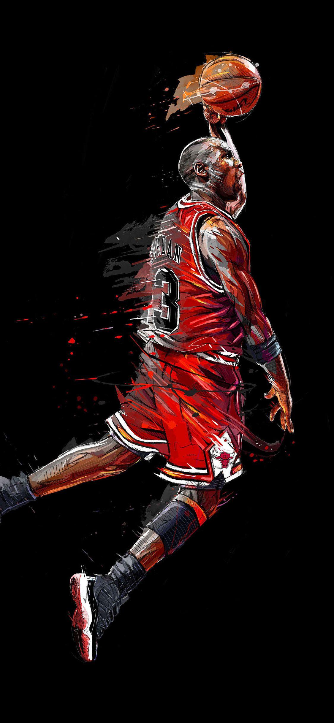 Épinglé par Hatem Zekri sur NBA Art michael jordan, Fond