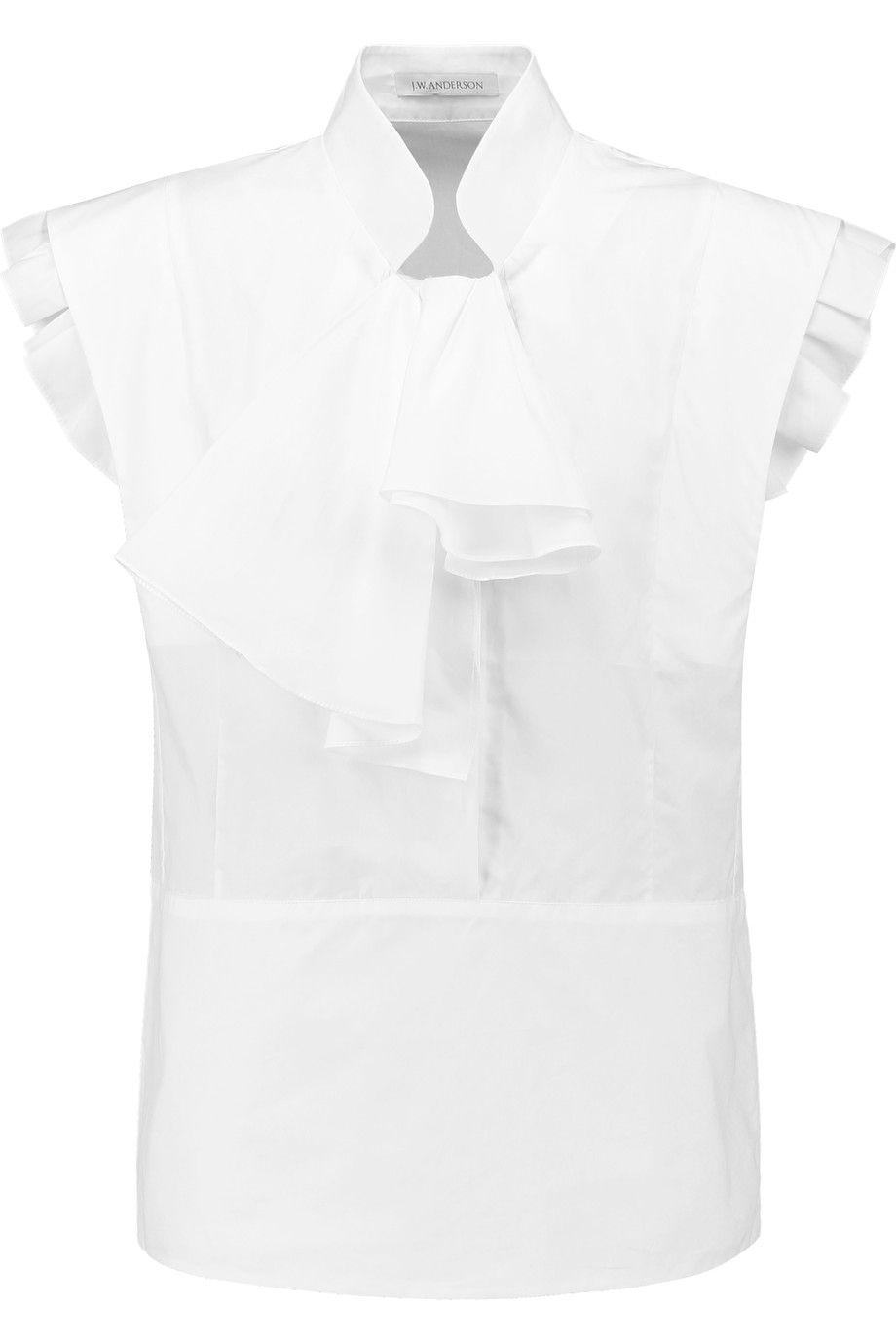 J.W.AndersonRuffled cotton-poplin shirt