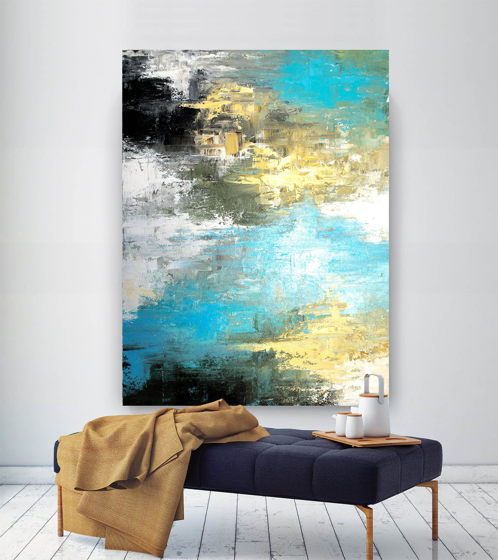 Large Modern Wall Art Paintinglarge Abstract Painting On Etsy Large Modern Wall Art Modern Abstract Painting Large Abstract Painting