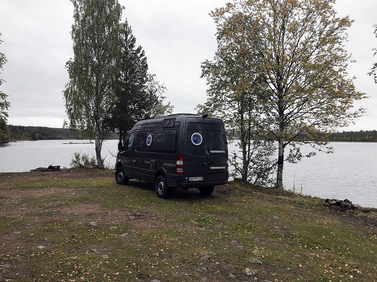 Wohnmobil Stellplatz Schweden: Am See Ljusnan bei Sveg (E 10