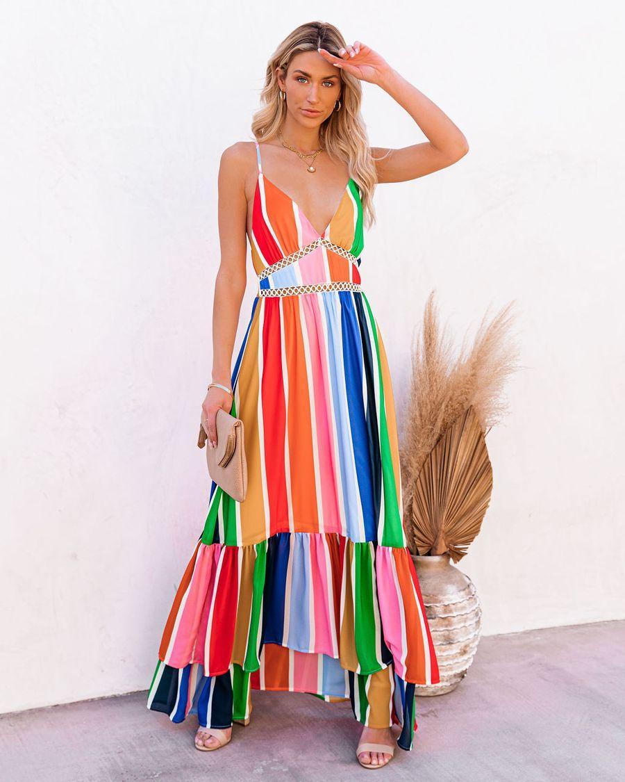 Fiesta To Siesta Crochet Striped Maxi Dress In 2021 Striped Maxi Dresses Maxi Dress Striped Maxi [ 1125 x 900 Pixel ]