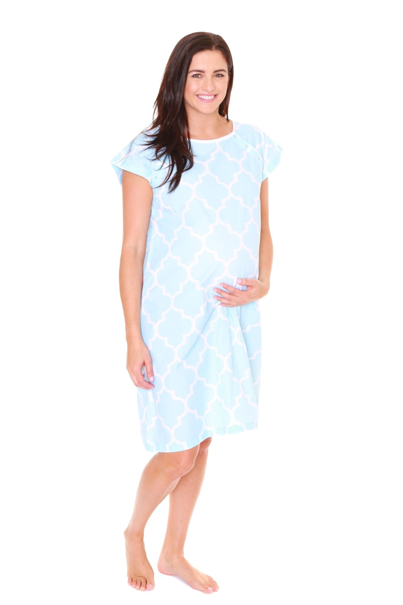 Marin Gownie Maternity Delivery Labor Hospital Birthing Gown Blue ...