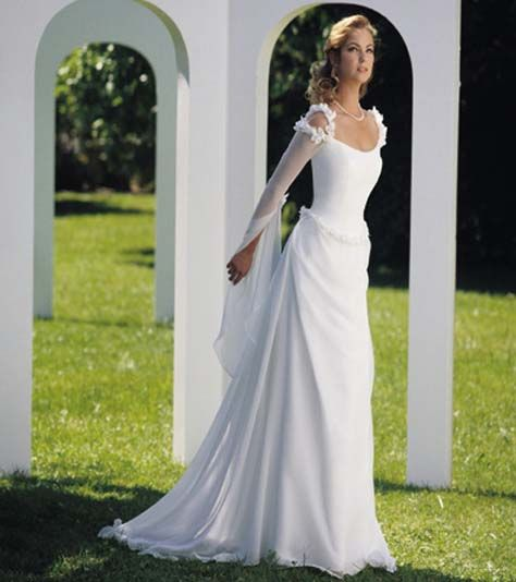 Chic Simple Wedding Dresses With Sleeves