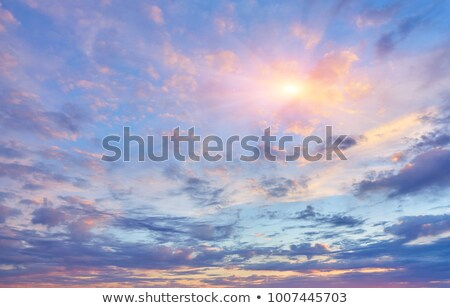 Beautiful Heavy Clouded Blue Sunset Sky Background Blue Sunset Sunset Sky Sky