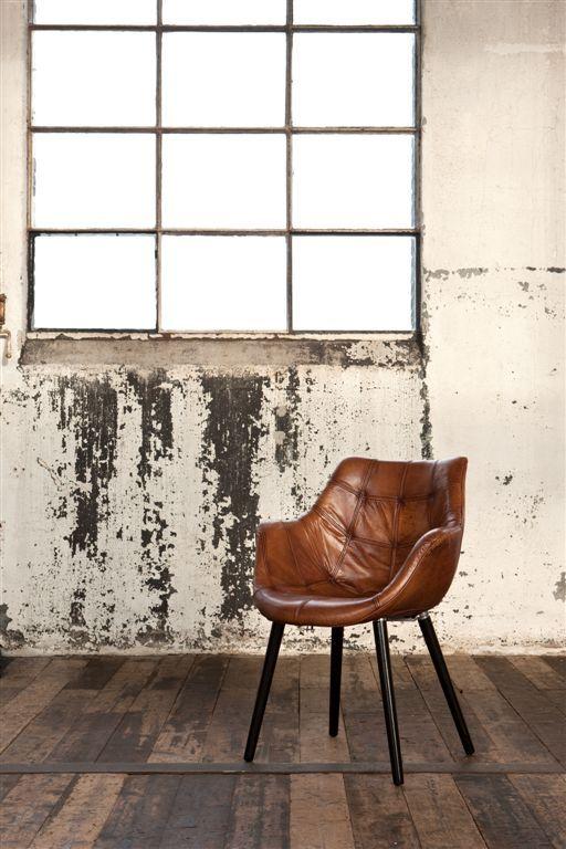 Donker Bruine Leren Stoel.Patchwork Anyline Leather Chair Lewis Leverbaar In 8 Kleuren O A