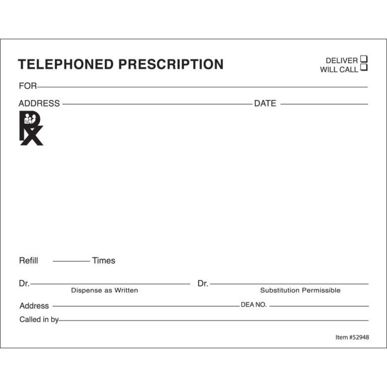 14 Prescription Templates Doctor Pharmacy Medical Prescription Template Medical Prescription Prescription