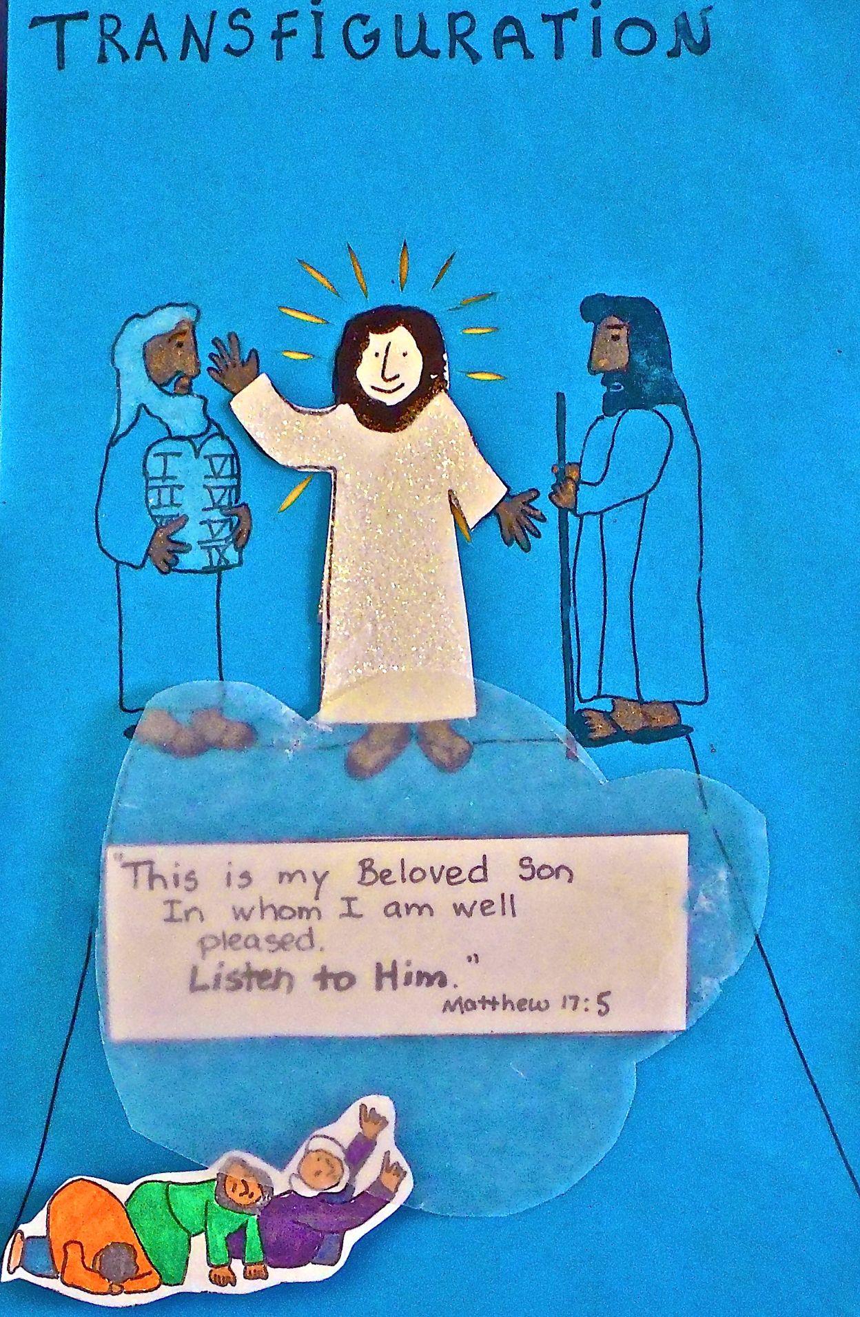 transfiguration Bible Stories For Kids, Bible Story Crafts, Bible Crafts  For Kids, Preschool