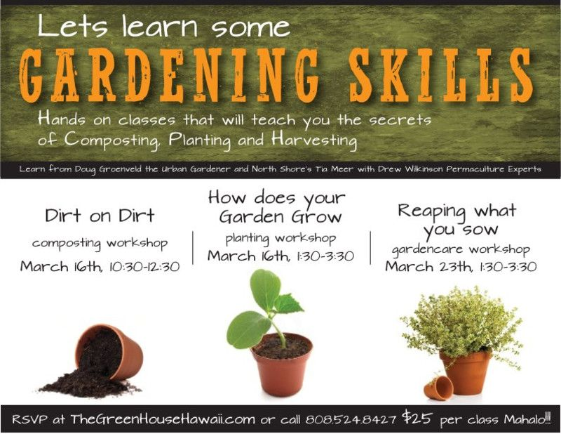Honolulu, HI Learn basic gardening skills with three classes at - basic p&l template