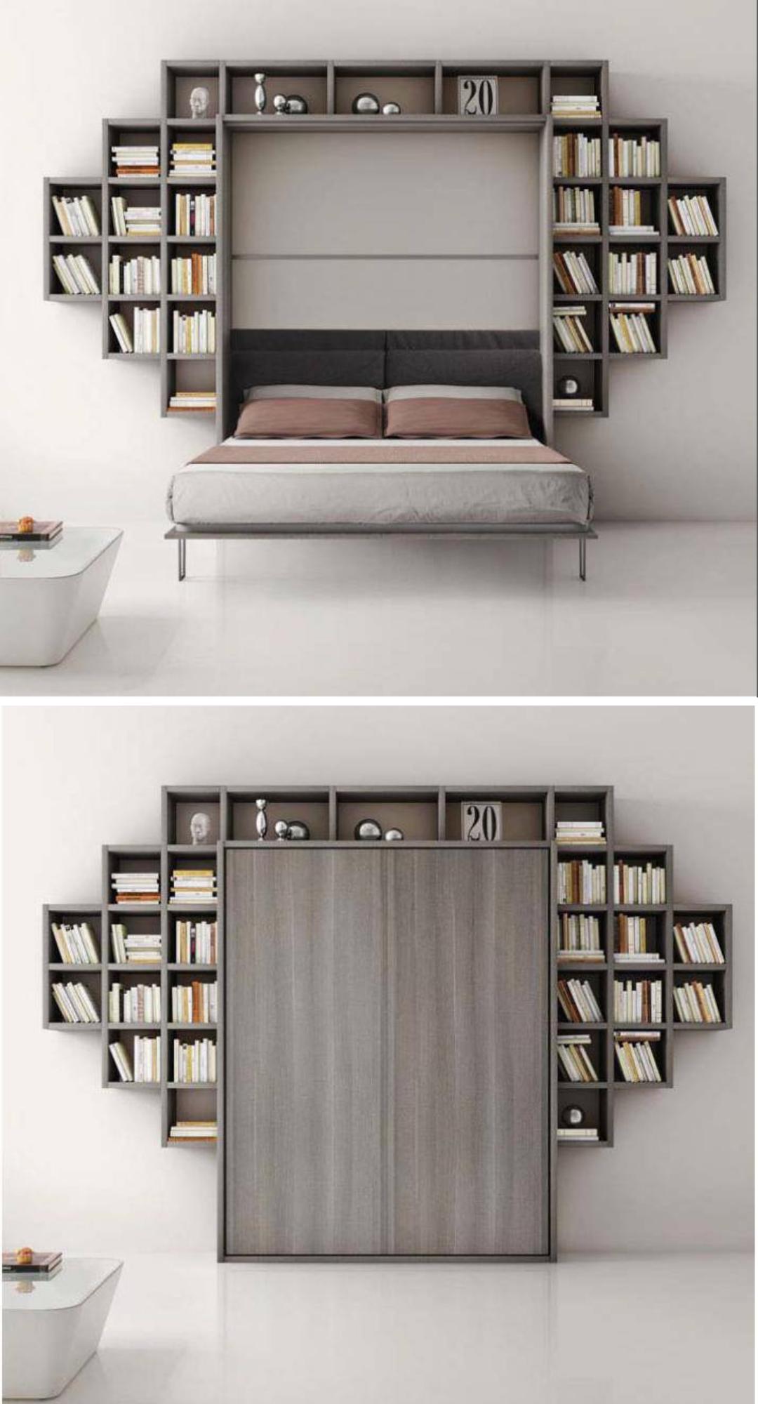 wall bed + shelfs Camas, Camas abatibles