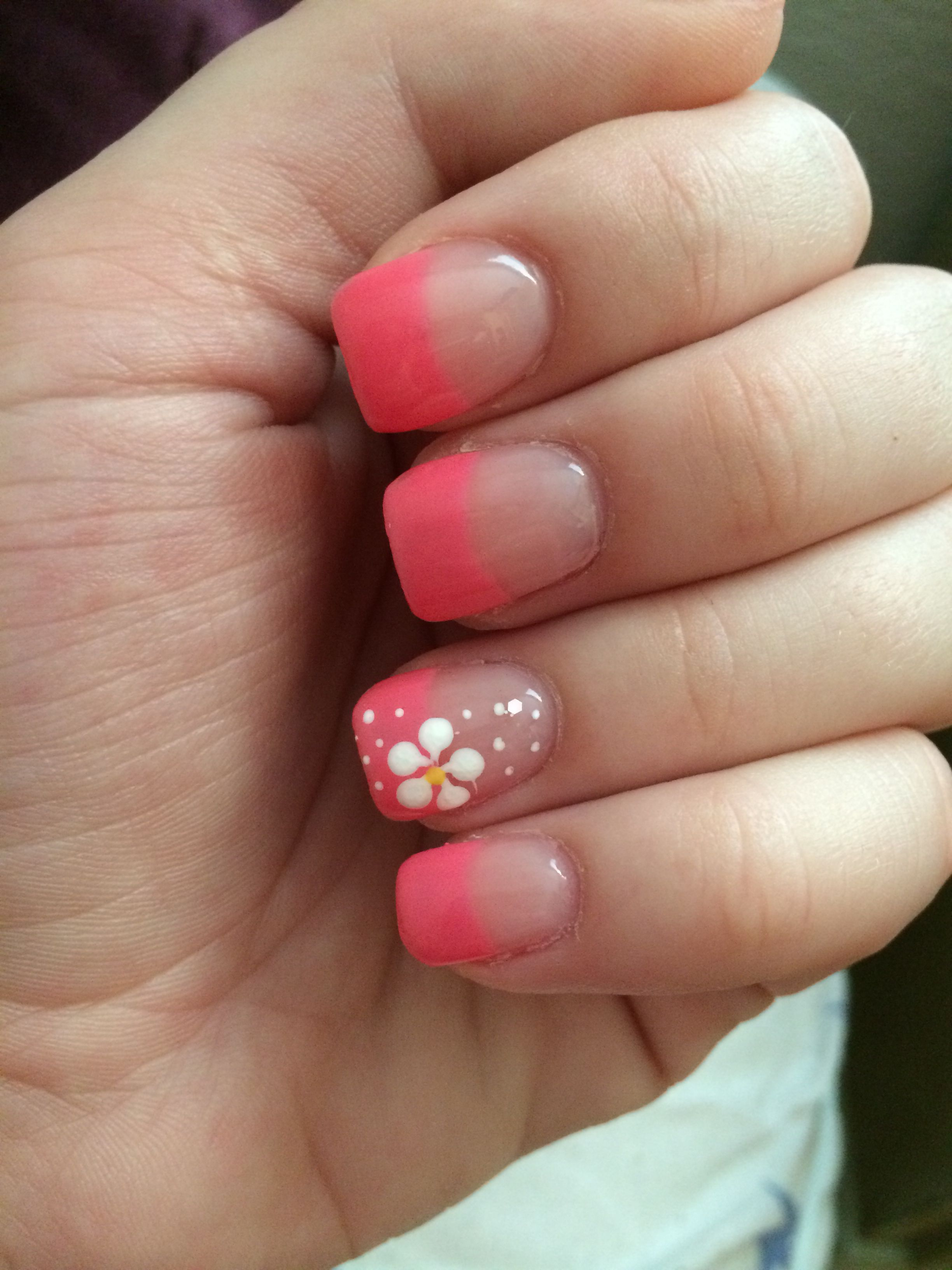 Extra short gel and acrylic manicure, perfect for saying a slow ...