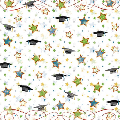 Graduation Fanfare Scrapbook Paper | Scrapbook ...