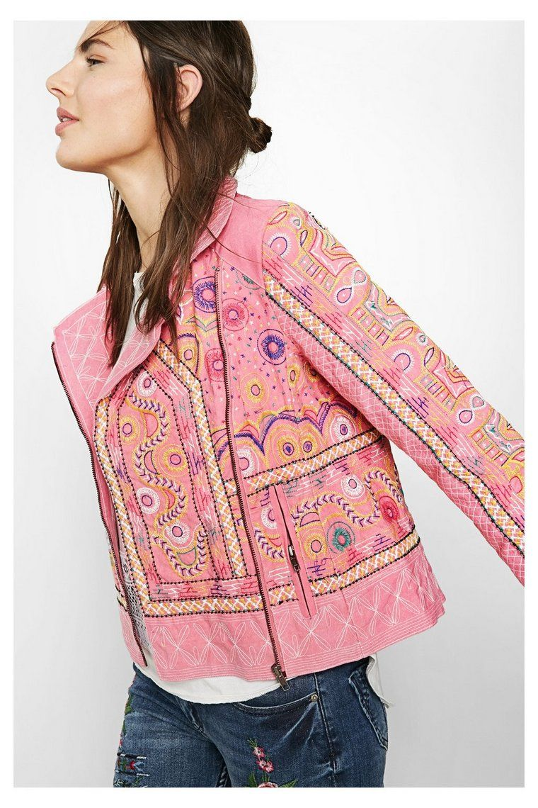 Con Jackets Florencia Chaqueta Jackets Cierre Cruzado Pink Rosa 4qTZxn5