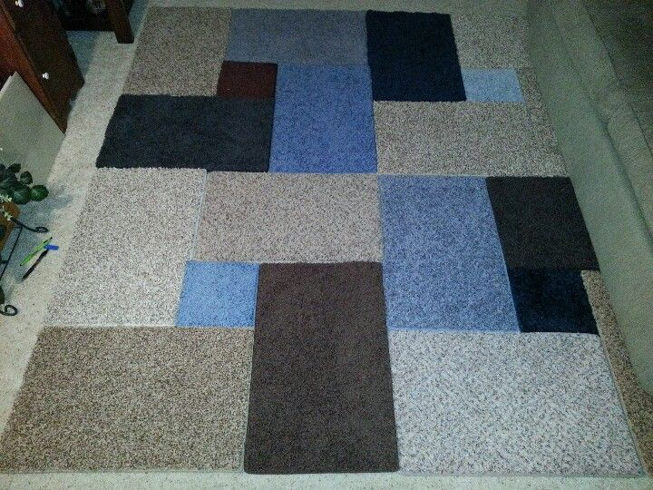 Carpet Sample Area Rug Used Gorilla Tape To Secure Them With