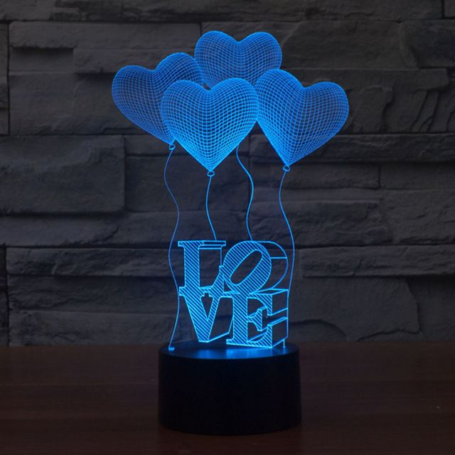 Aliexpress Com Buy Free Shipping Fantastic Design 3d Decor I Love You Shape Creative Night Light Cool Lamp As Va 3d Led Lamp 3d Night Light Night Light Lamp
