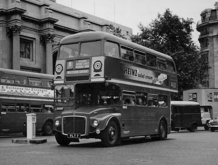 London Transport Rm7 On Route 8 Marble Arch 1959 London Transport London London Bus