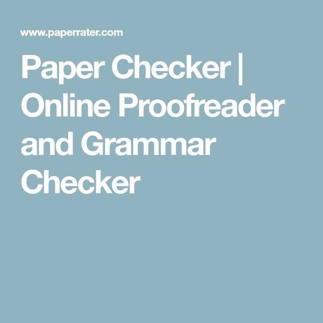 online paper checker