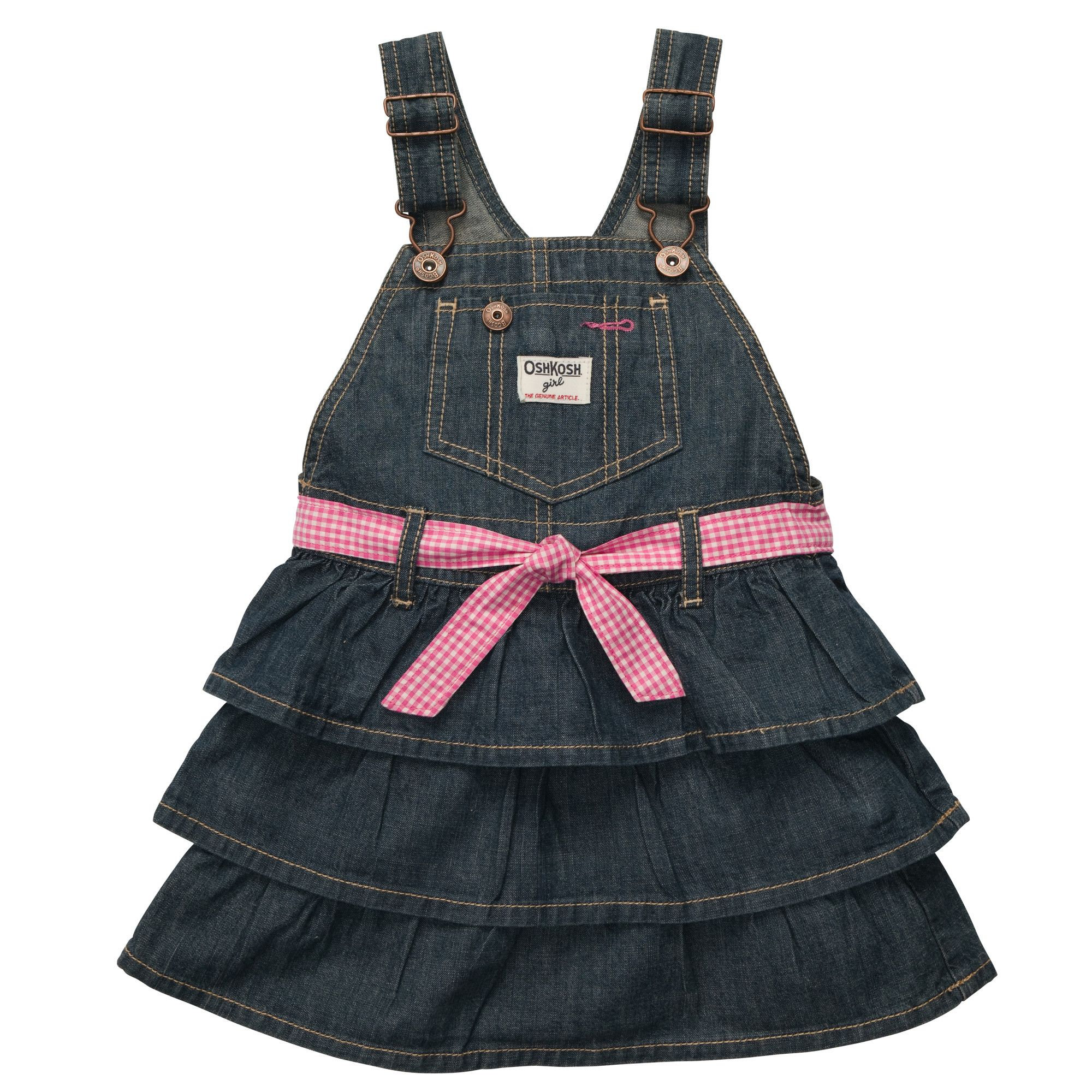 286937f38 Tiered Ruffle Denim Jumper | Baby Girl Overalls & Jumpers | Girl ...