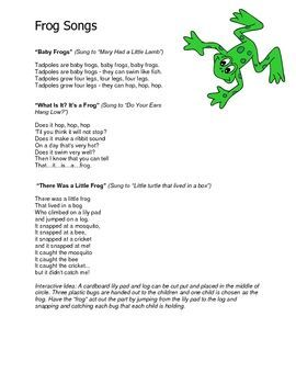 This 30 Page File Includes Many Fun Frog Themed Ideas That You Can Use In Your Early Childhood Classroom 4 00 Frogs Preschool Frog Theme Preschool Songs