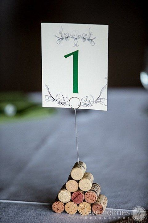 Cute wine cork table numbers at The Mountain Top Inn & Resort