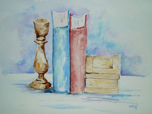 Simple Watercolor Still Life With Four Objects Easy Watercolor