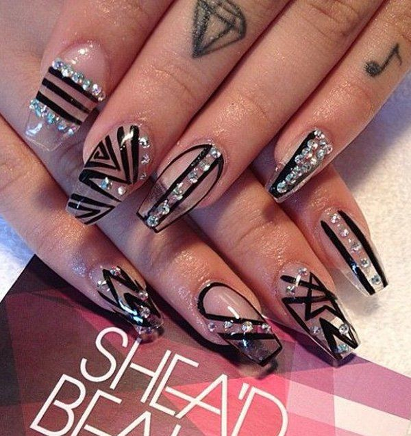 Black Nail Art-8