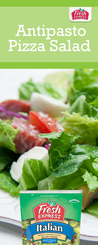Enjoy our Fresh Express Antipasto Pizza Salad  Yum!   Fresh