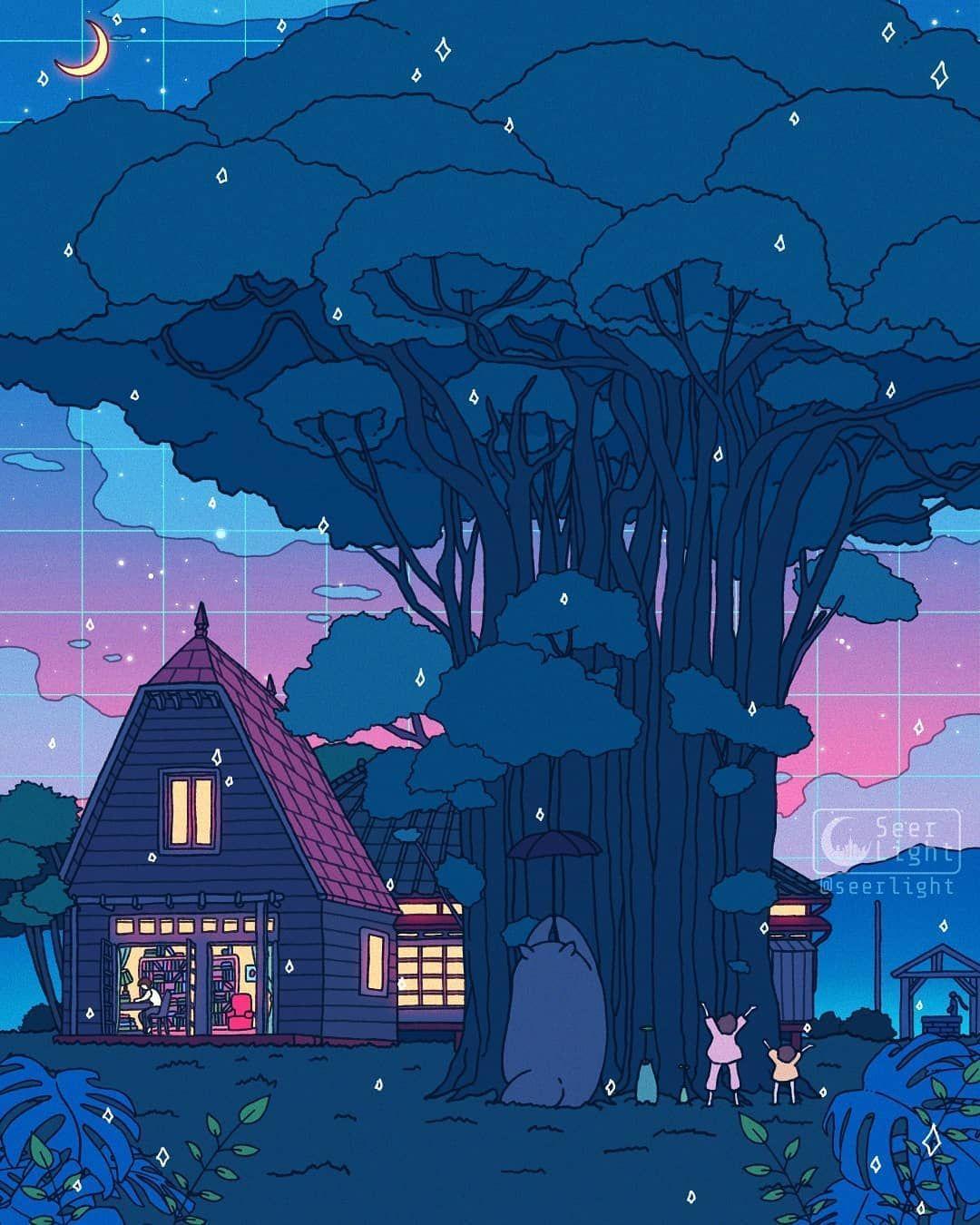 Digital Doodles By Seerlight Digital Art Artwoonz In 2020 Ghibli Artwork Studio Ghibli Movies Anime Scenery Wallpaper