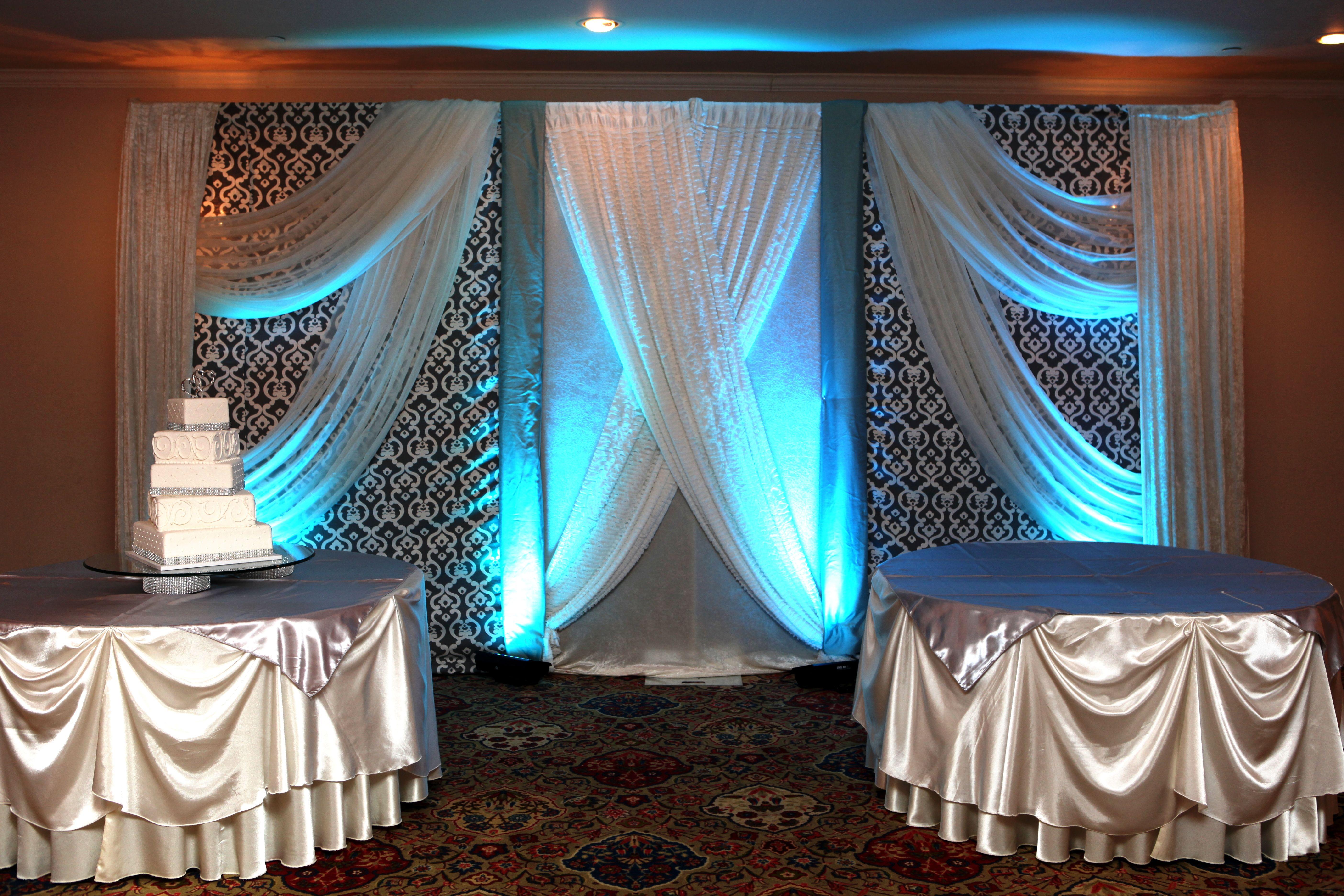 Wedding stage decoration with balloons  Pelazzio Full Service Wedding Venue creates beautiful custom