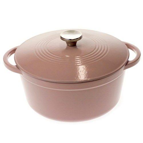 Oh Gussie Lodge Reg; 1.5-Quart Pink Enameled Cast Iron