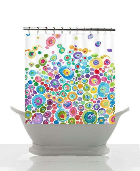 Colorful Shower Curtain Set