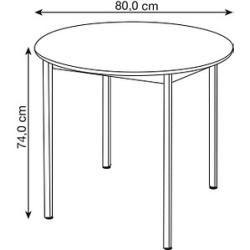 Photo of Mehrzwecktisch grau rund