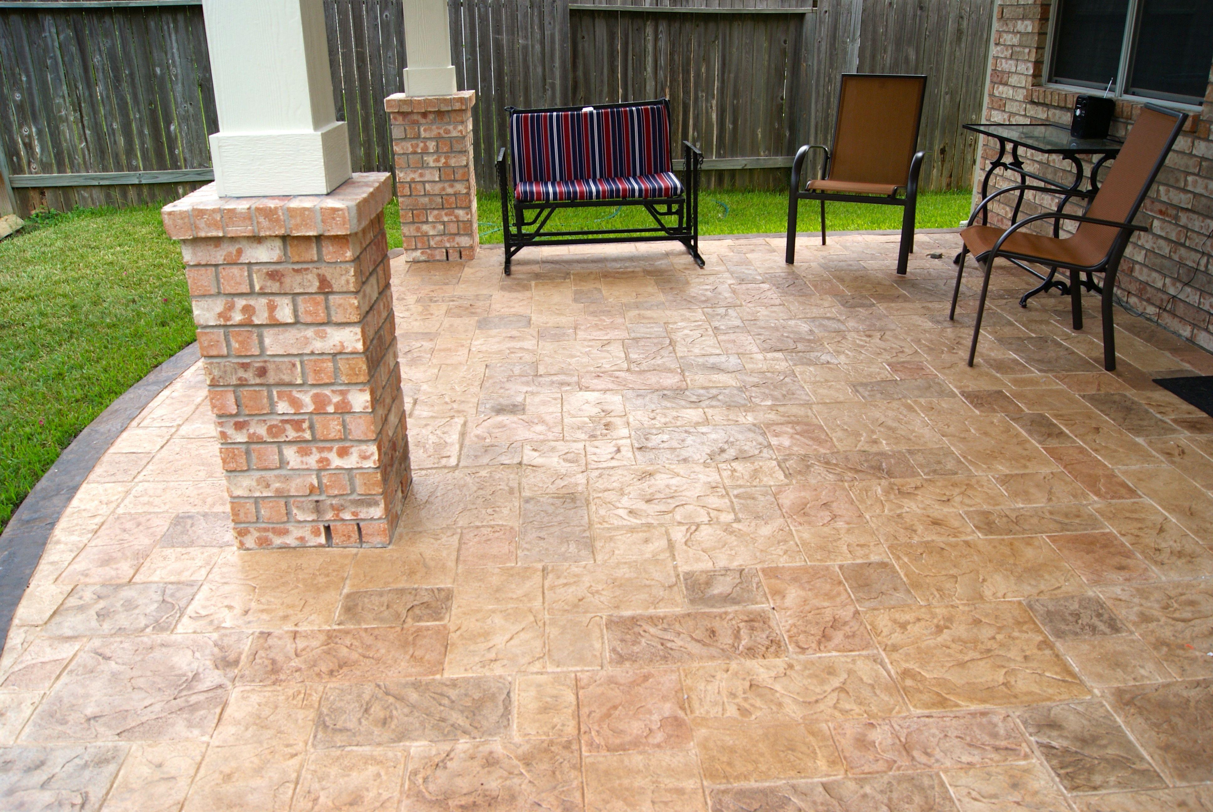 Stamped concrete Patio flooring, Patio, Patio design