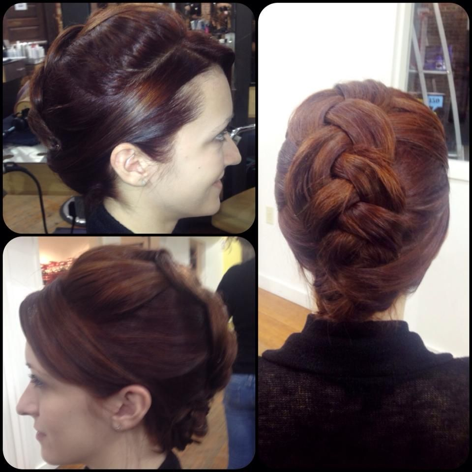 Large braid with lots of volume pinned foral style by molly