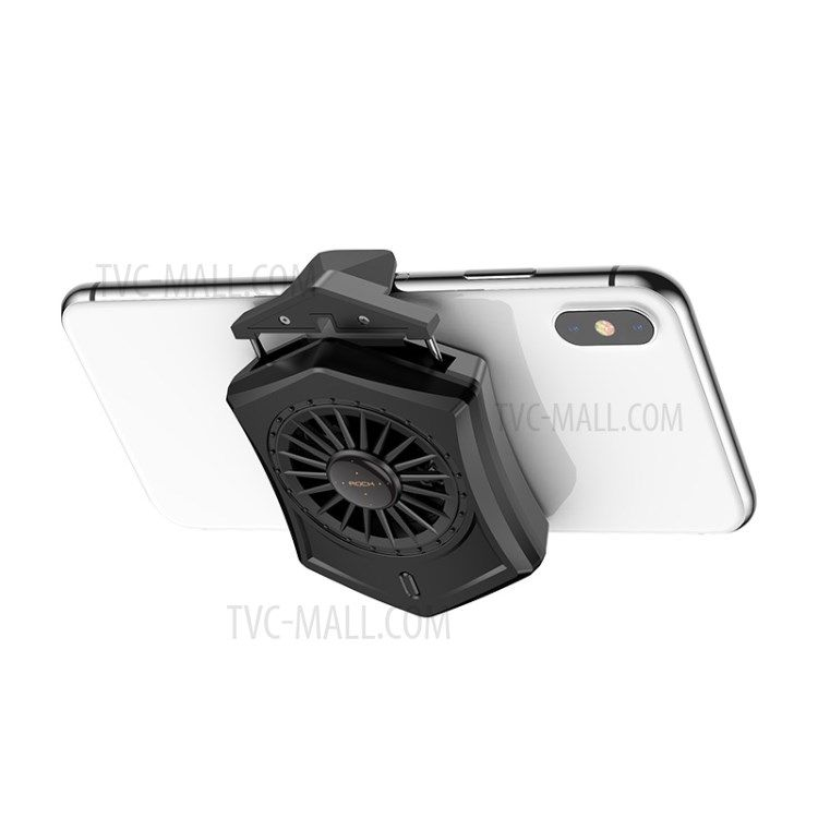 Rock Retractable Phone Cooling Pad Mini Cooler Air Cooling Fan For Smartphone Gamepad Mobile Black Phone Android Iphone Accessories Ios Ipad Tablet