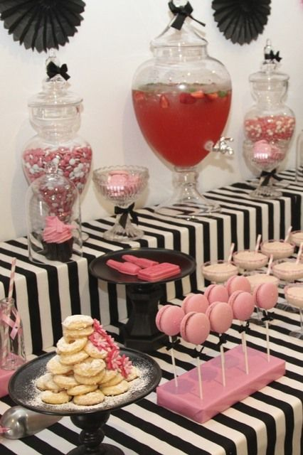 Pink Black White Fundraiser Party Ideas Pink Party Foods