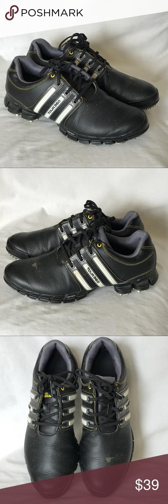 Adidas Tour 360 Black White Golf Shoes 360 Sz Adidas tour 360 Shoes 8f7407