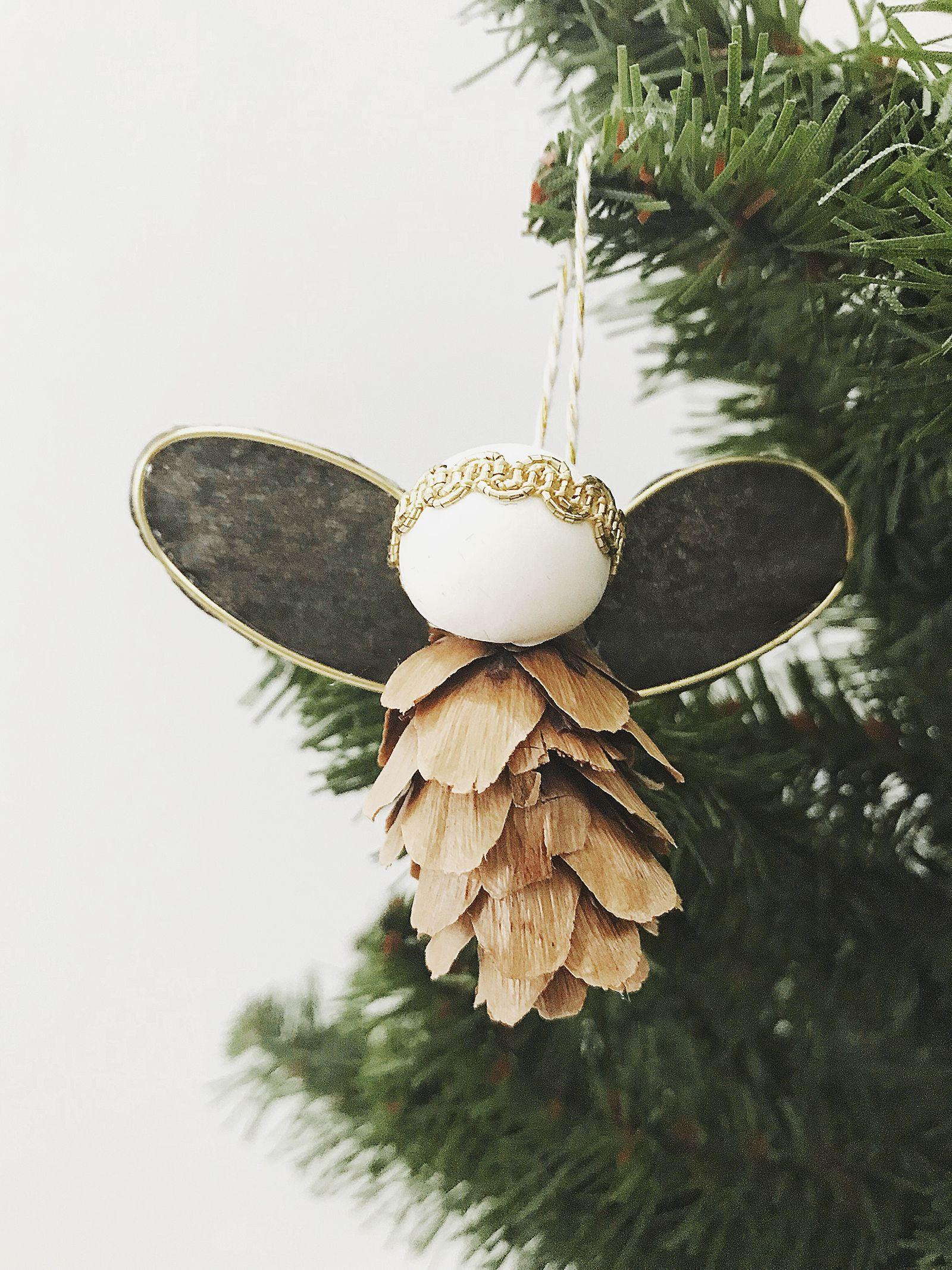 Ornament No 1 Pinecone Angel Ornament Diy Angels Diy Angel Ornaments Angel Ornaments Diy