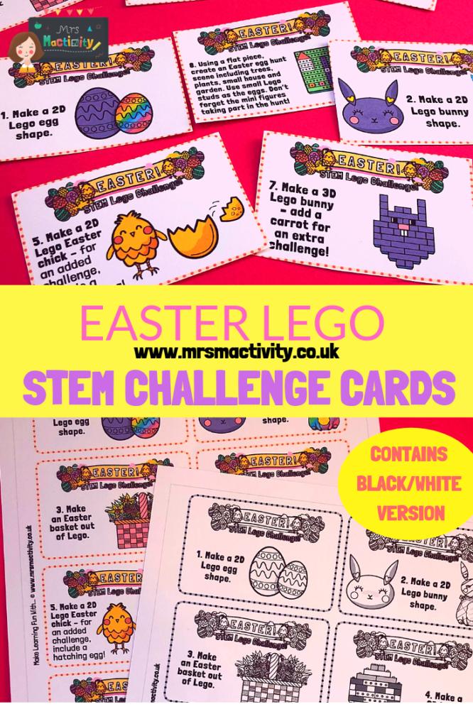 Easter Lego Stem Challenge Cards Primary Teaching Resources Lego Easter Lego Stem Challenge Card Challenges