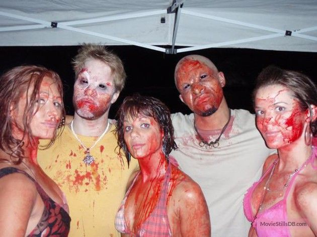 Lost Boys: The Tribe - Behind the scenes photo of Shaun Sipos, Merwin Mondesir, Rikki Gagne, Loren Gibson & Maja Stace-Smith